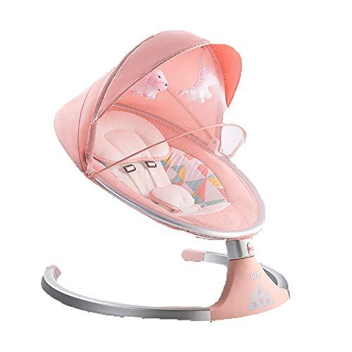 Swings Hamaca para Bebes, Eléctrica Mecedora para Bebés, Cinco velocidades mosquitera Columpio...