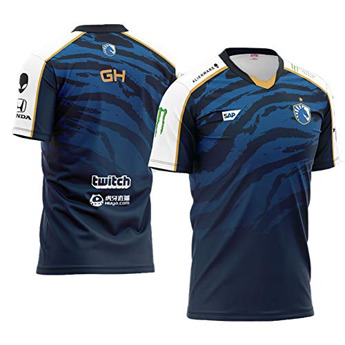 73HA73 Camisetas de E-Sport para Hombres T19 DOTA2 Team Liquid Esports Miracle- TWISTZZ GH Uniform Sudaderas Cómodas y Transpirables T-Shirts