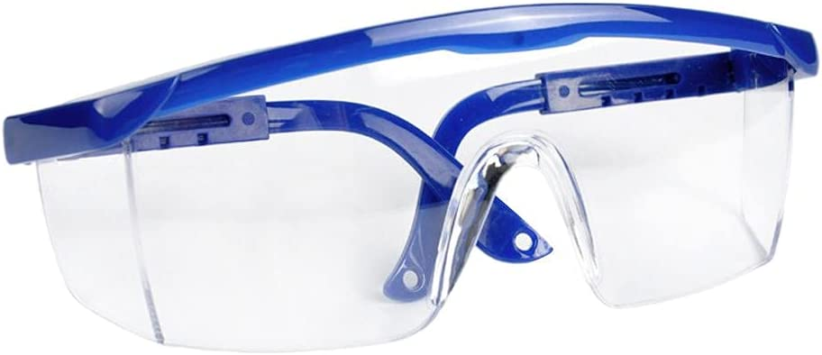 Anti-vaho Gafas, protección UV Antideslizantes de Gafas de Seguridad con Templos Individualmente Ajustable Azul