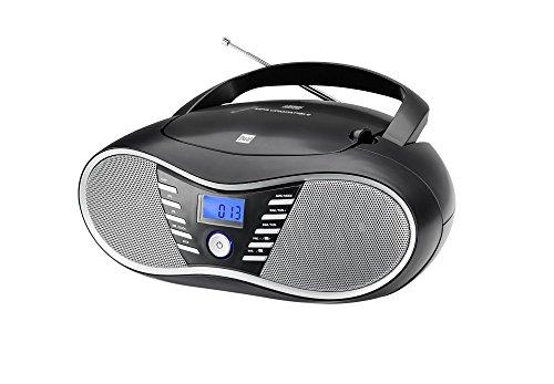 Dual P 60 BT Portable Boombox (UKW-Radio, CD-Player, Bluetooth für Audiostreaming, USB-Anschluss) Schwarz