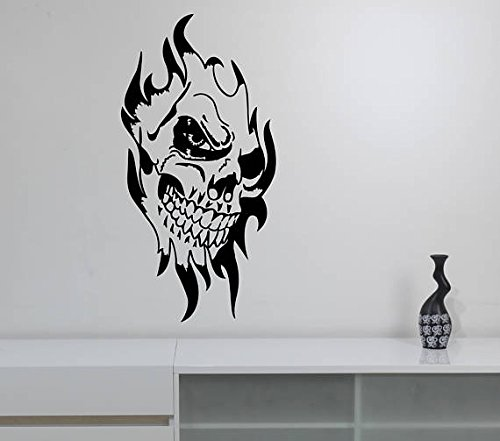 A Design World Evil Clown Skull Wall Decal Scary Jester Vinyl Sticker Sinister Circus Halloween Art Horror Decorations for Home Room