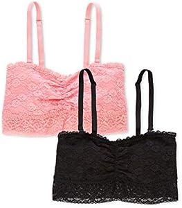 Marca Amazon - Iris & Lilly Sujetador Cotidiana Mujer, Pack de 2, Multicolor (Black/pink), S, Label: S