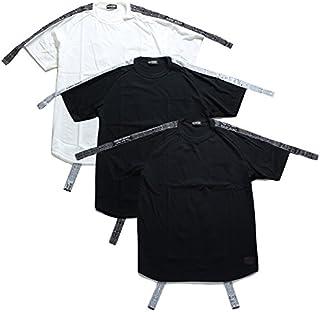 【Z18PH04】 ゼファレン Zephyren Tシャツ ロング丈 かっこいい 胸ポケット ビッグシルエット リボンテープ アメカジ 大きいサイズ 正規品 白黒