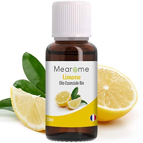Olio Essenziale di Limone | 100% Puro, Naturale e Vegano | Olio Essenziale per Aromaterapia, per Massaggi, per Diffusori | Certificato OEBBD, OECT e Agricoltura Biologica | 30 ML Mearome