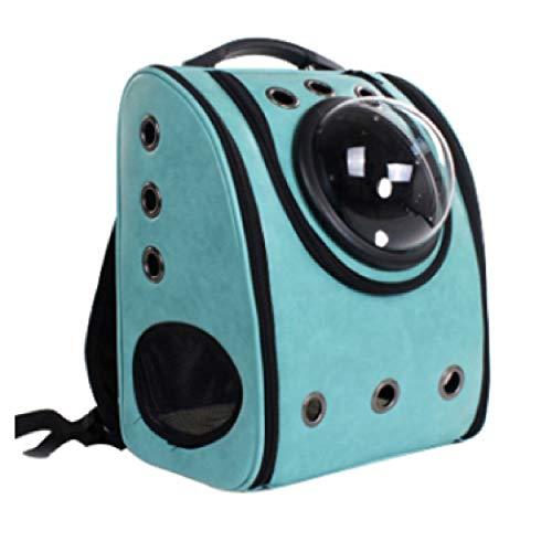 Atmungsaktiver Tragbarer Rucksack Für Haustiere, Katzen Und Kätzchen Für Reisen, Wandern, Wandern Und Den Einsatz Im Freien (Color : Green)