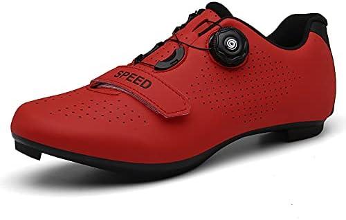 Pamray Men's Road Bike Cycling Shoes Women's Mountain Biking Shoes Compatible with Peloton SPD & Delta Cleats