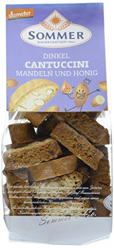 Sommer Dinkel Cantuccini mit Mandeln und Honig demeter, 6er Pack (6 x 150 g)