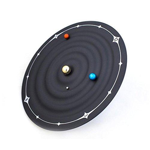 H&M Reloj magnético del planeta del sistema solar Reloj de pared creativo del arte del dormitorio