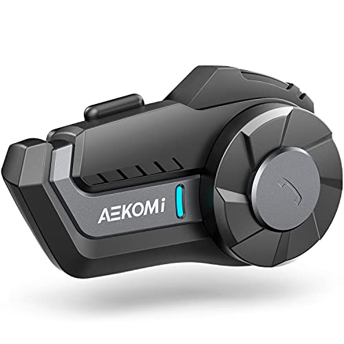 Motorcycle Bluetooth Headset, AEKOMi HY-01S Helmet Intercom Motorbike 1000m Universal Communication...