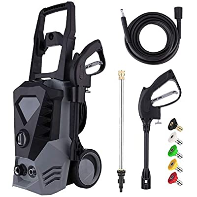 Electric Pressure Washer 3500PSI 2.6GPM High Power Washer with 32ft Cable and 5 Quick-Connect Spray Nozzles for Cleaning Homes, Cars, Decks, Driveways, Patios
