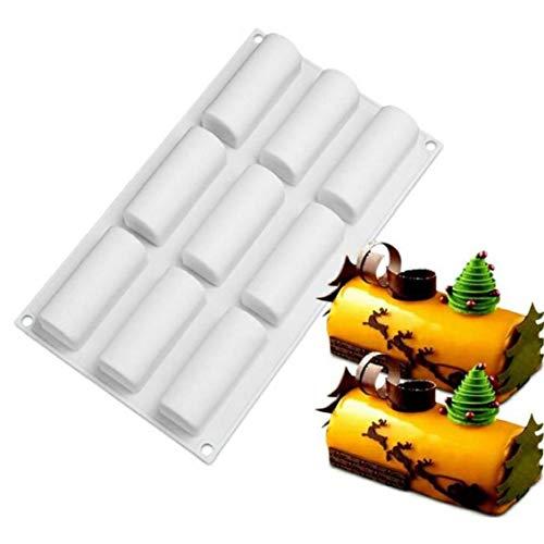 BYFRI Dekorieren Kuchen, Der Werkzeuge Roll-silikon Formen Log-Form-schokoladen-Desserts Große Twinkie Tee-Zeit-Kuchen-Dessert Süßigkeiten Bäckerei Zubehör Zufällige Farbe