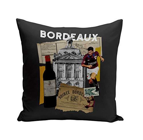 Fabulous Coussin 40x40 cm Bordeaux Collage Ville France Vin Voyage