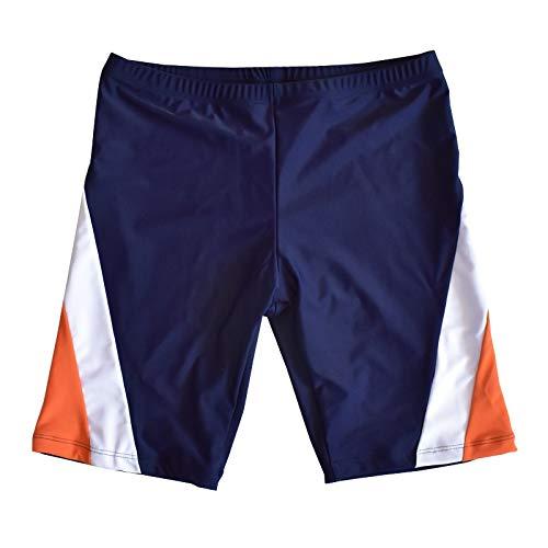 FEIYI Traje de baño para niños de 7 a 16 años de secado rápido para niños, calzoncillos tipo bóxer de playa, ropa de playa 2020, color azul oscuro, talla: XL
