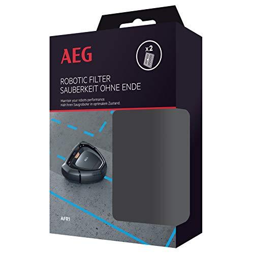 AEG, AFR1 Filterset für RX9 (Doppelpack, 2 waschbare XXL Filter, optimale Filtration, einfache Reinigung, regelmäßiger Filtertausch, fängt Pollen und Allergene, passgenau, schwarz/weiß)