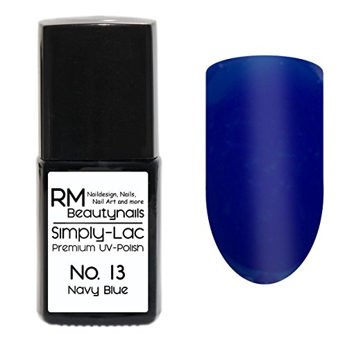 Simply-Lac Premium UV-Polish Nr. 13 Navy Blue Marine Blau 10ml Nagelgel UV-Nagellack RM Beautynails