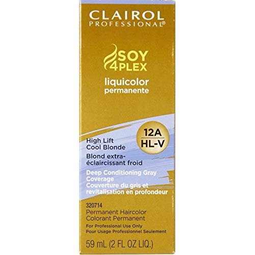 Clairol Professional Liquicolor 12A/HL-V High Lift Cool Blonde Hair Color, 2 oz