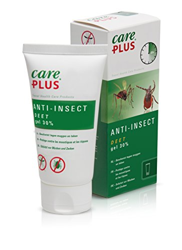 Care Plus Unisexe - Adulte Anti-Insect Deet 30% Gel 80ml Blanc