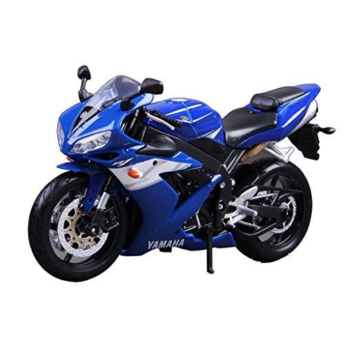 1:12 modelo de la motocicleta Yamaha YZF-R1 carretera locomotora de simulación de aleación de fundición a presión de joyas de juguete colección de coches deportivos joyería modelo de coche azul 17x10c