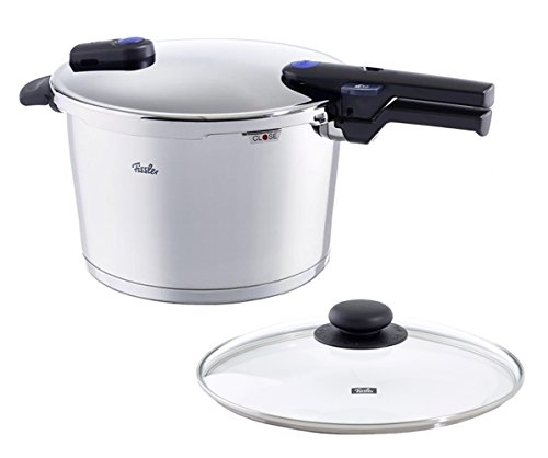 Fissler vitaquick , Pressure Cooker Set, 10.6 Quart, with Glass Lid, Stainless Steel, Cookware,...