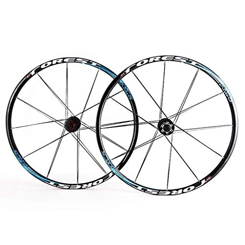 TYXTYX Rueda de Bicicleta 26 27.5 en MTB Juego de Ruedas de Bicicleta Llanta de aleación de Doble Pared Buje de Carbono Primero 2 Trasero 5 Freno de Disco de liberación rápida Palin 7 8 9 10 Juego