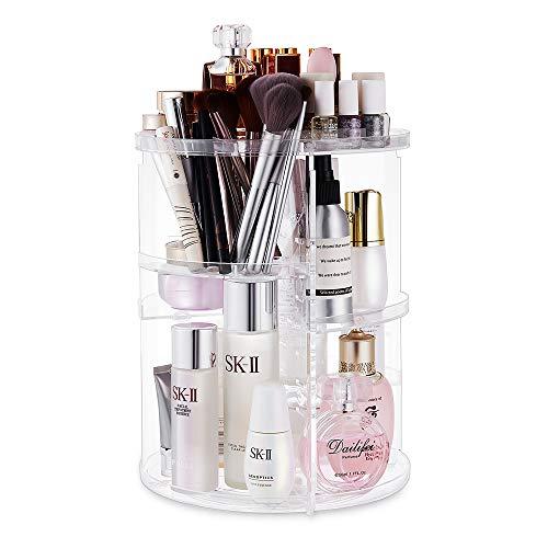 Make Up Beauty Organizer, 360° Drehbar Make Up Kosmetik Organizer, 7 Schichten einstellbar Schmink Aufbewahrung Kosmetikbox für Dresser Schlafzimmer Badezimmer