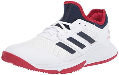 adidas Damen Court Team Bounce W Turnschuh, FTWR White/Collegiate Navy/Power Red, 42 EU