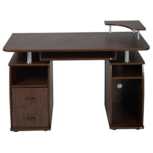 Computer PC Desk Work Station Office Home Monitor&Printer Shelf Furniture