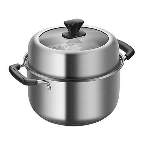 Soup pot Stainless Steel with Steamed Layer Soup Pot Thickened Household Steamer Stew Pot Gas Stove for 4-6 People soup pot quart