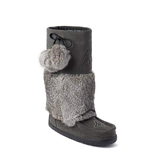 Manitobah Mukluks Womens Waterproof Snowy Owl, Charcoal, 5