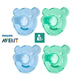 Philips AVENT Chupetes soothie//A Partir de 3 meses//Talla 2//soothie oso forma...
