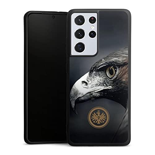 DeinDesign Premium Silikon Hülle kompatibel mit Samsung Galaxy S21 Ultra 5G Handyhülle schwarz Hülle Eintracht Frankfurt Offizielles Lizenzprodukt Adler