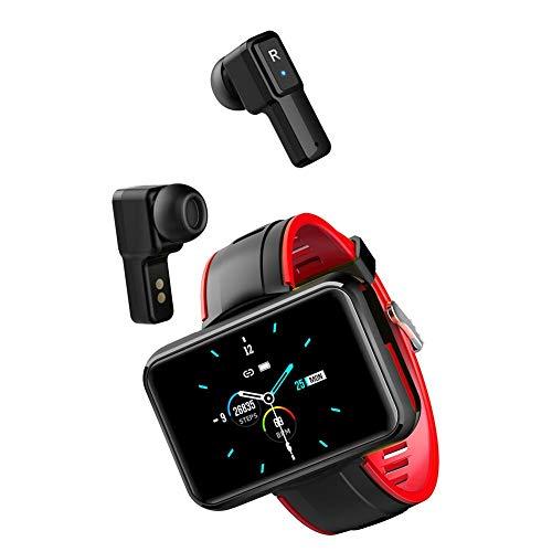 Gally Smart Watches Earbuds, 2-in-1 Smart Armbanduhr mit Zwei drahtlosen Bluetooth-Kopfhörern Touchscreen Fitness Tracker Blutdruck und Herzfrequenz
