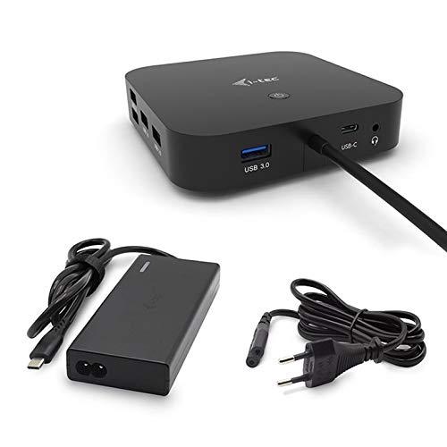 i-tec USB-C Dockingstation 2x4K mit 65W Stromversorgung - 2X DisplayPort 1x USB-C 3X USB 3.0 2X USB 2.0 1x GLAN 1x Audio/Mik