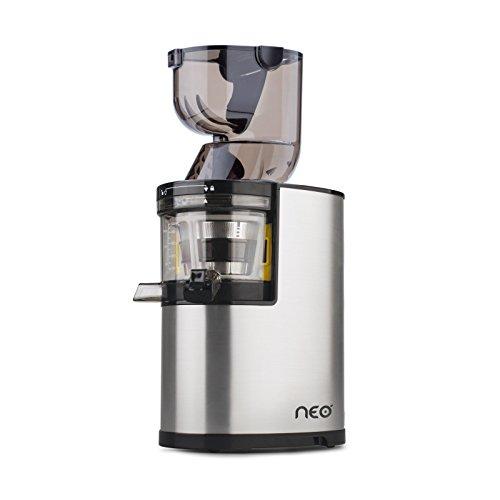 Neo XL400-400W Whole Slow Juicer/Edelstahl/XXL Einfüllhals - inkl Sorbet Kit und lebenslanger Garantie auf den Motor