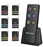 Key Finder Locator,Wireless RF Item Locator Key Tracker with 85DB Loud Beeping Sound and 115 Feet Remote Control Anti-Lost Tags and Keychains (6 Receivers with Number)