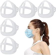 マスクフレーム マスク ひんやりプラケット マスクブラケット ズレ防止 夏用 3D マスクインナーサポートブラケット マスク 暑苦しさ改善 呼吸空間増やす 口紅の保護 柔らかい 超快適 洗える5パック(ホワイト); セール価格: ¥679
