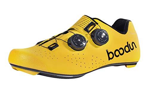 Insun Hombre Zapatillas de Ciclismo para Carretera con Suela de Carbono y...