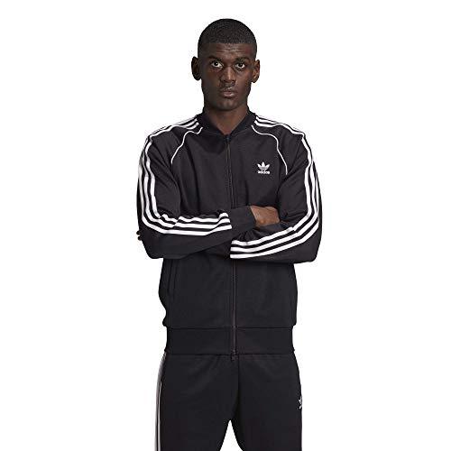 adidas Originals mens Adicolor Classics Primeblue SST Track Jacket Black/White X-Large