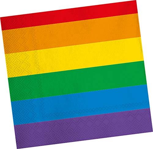 DH-Konzept 20 Servietten * Regenbogen Farben * für Party und Geburtstag | Mottoparty Kindergeburtstag Napkins Pride Gay LGBT