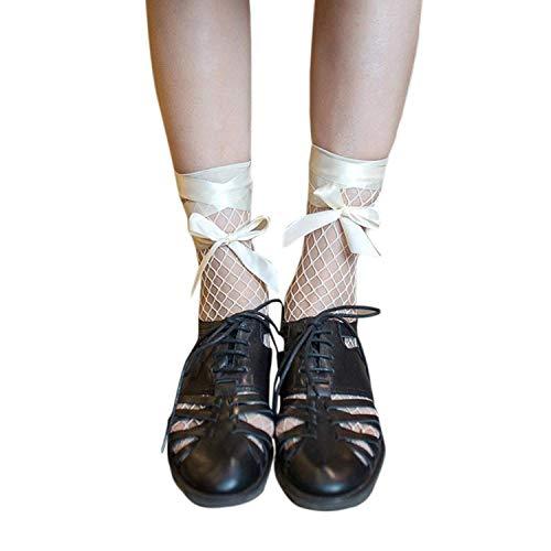 BOLAWOO-77 Señoras Calcetines De Japonés Estilo De Verano Moda Malla Mode De Marca De Malla Con Encaje Nylon + Spandex Calcetines Malla De Malla De Verano Clásico Cómodo Calcetines De Las Mujeres