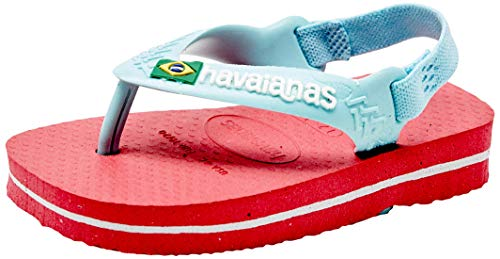 Havaianas Unisex Baby Brasil Logo II Zehentrenner, Rosa (Flamingo), 22 EU
