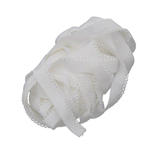YNuth Gummiband Gummilitze Wäschespitze Elastisch Weiß Nähen Handarbeit 500x1cm