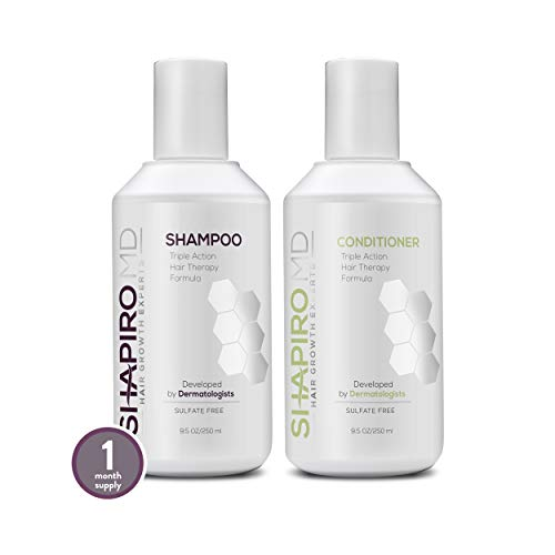 Hair Loss Shampoo and Conditioner | All-Natural DHT Blockers for Thinning Hair Developed by...