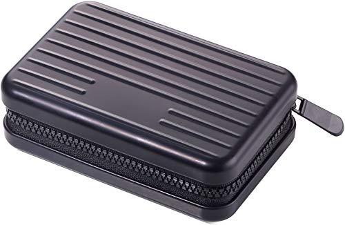 TROIKA Design Werkstatt Kreditkartenetui im Stil eines Hartschalenkoffers schwarz KARTENKOFFER 105 x 70 x 30 mm