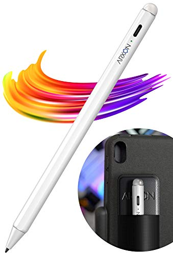 Active Stylus Pen for Apple iPad, Palm Rejection Tech, Best Touch Writing & Drawing w/High Precise Ultra Fine Tip iPad Pencil Compatible w/iPad 2019, 10.2-Inch/iPad 2018 iPad Air,iPad Mini,iPad Pro