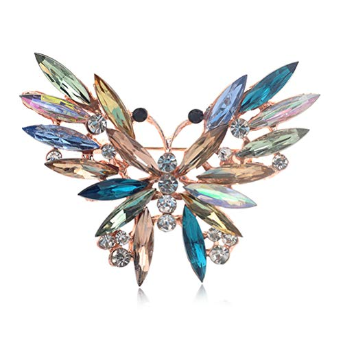 Haiabei 1 x modische bunte Kristall-Brosche mit Tier-Schmetterlingen, Emaille, für Frauen, Geschenk, Schmuck, Mode-Brosche, Geschenk, Kleidung, Accessoires