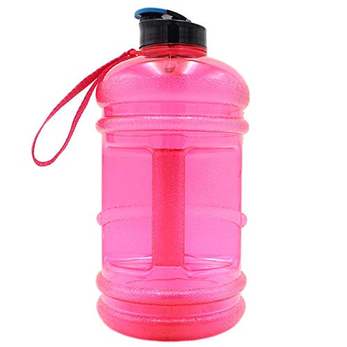 GYAM Jarra Botella De Agua De 2,2 litros, Sin BPA con Tapa Abatible Fuente De Agua para Acampar Al Aire Libre En El Gimnasio,Rosado