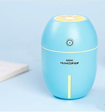 【新品】USB柠檬加湿器 迷你家用 创意办公桌面 180ml容量 夜灯功能 车载超声波雾化器 (湖蓝色)