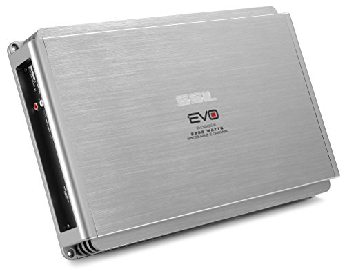 Sound Storm Labs EVO2200.2 EVO 2200 Watt 2 Channel 2 to 8 Ohm Stable Class A B Full Range Bridgeable Mosfet Car Amplifier with Remote Subwoofer Control