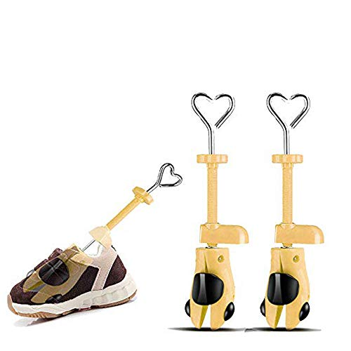 Valentoria Shoe Stretcher for Kids fit for 7-15 Years Old Chidren,2-Way Shoe Stretcher Stretches Length Width Gifts for Kids (Yellow, Kids)